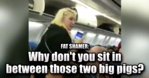 fat-shaming airline passenger
